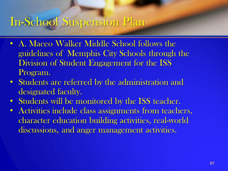 In-School Suspension Plan