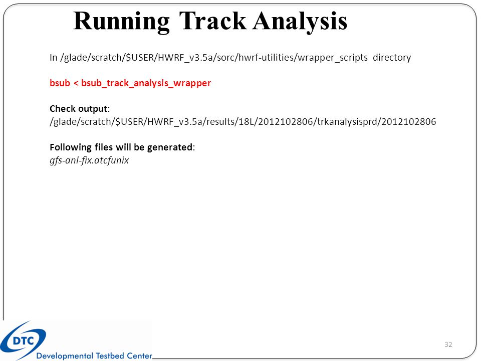 Running Track Analysis