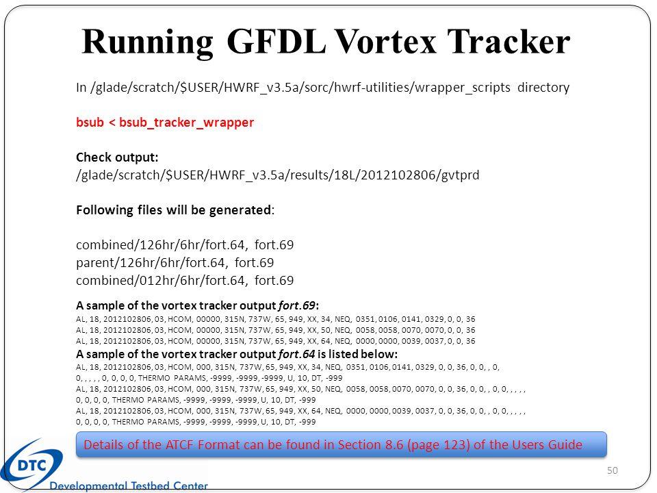 Running GFDL Vortex Tracker