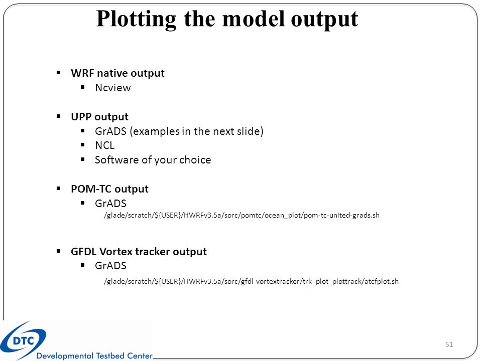 Plotting the model output