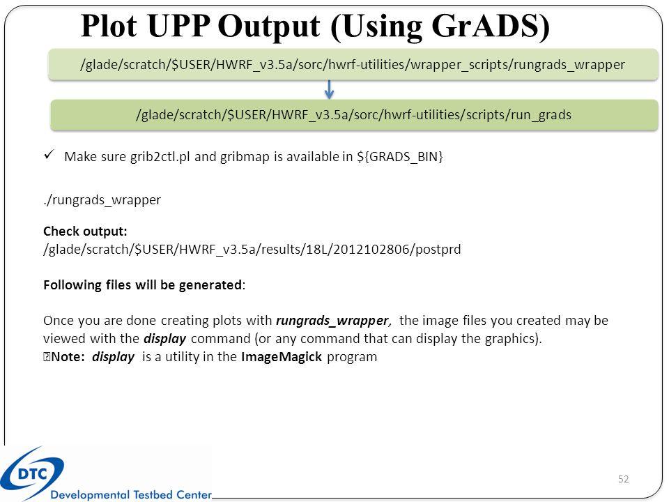 Plot UPP Output (Using GrADS)