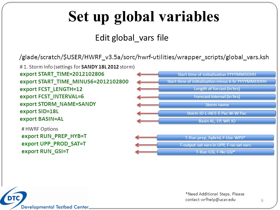 Set up global variables