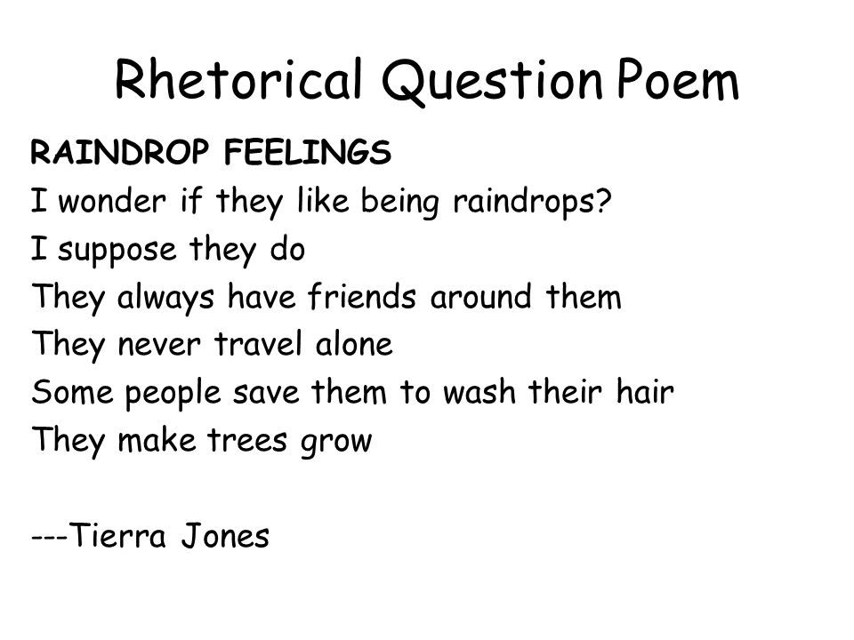 Rhetorical Question Poem