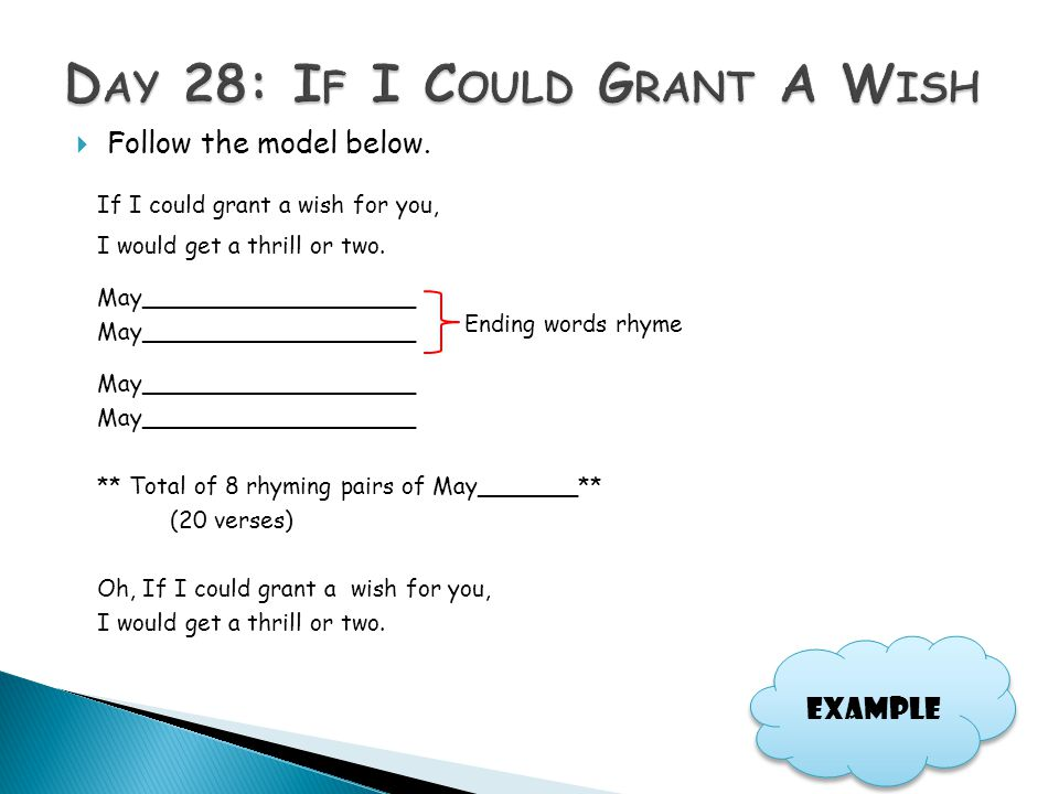 Day 28: If I Could Grant A Wish