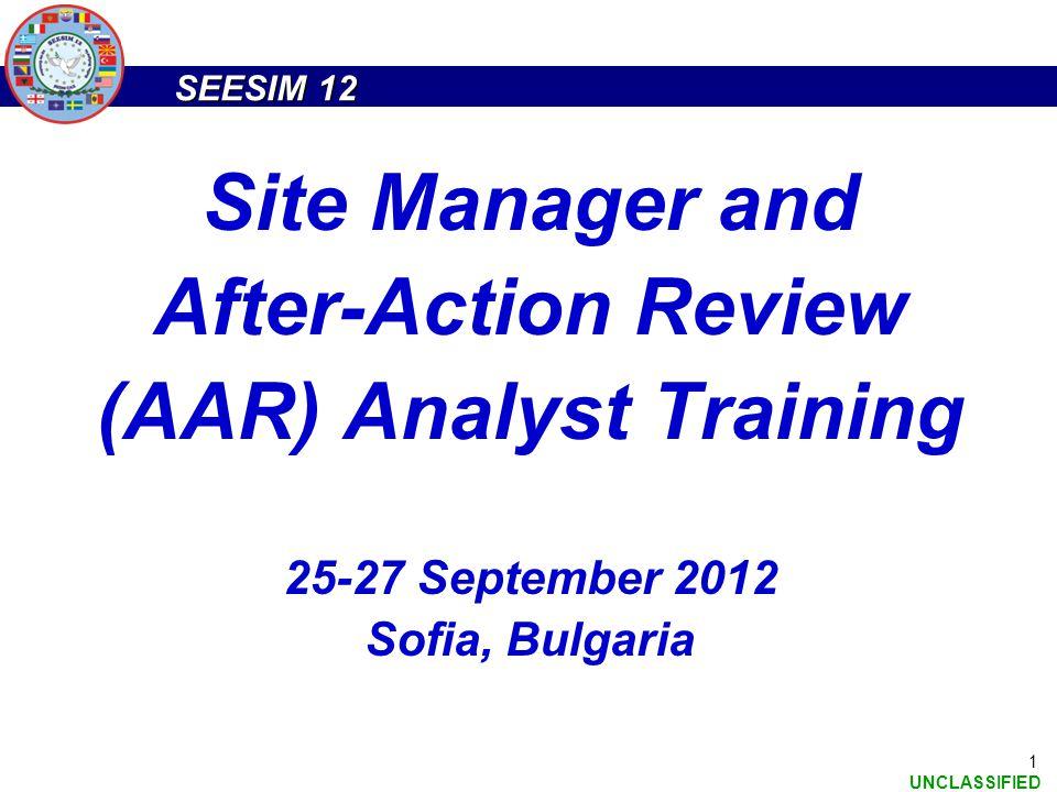 (AAR) Analyst Training