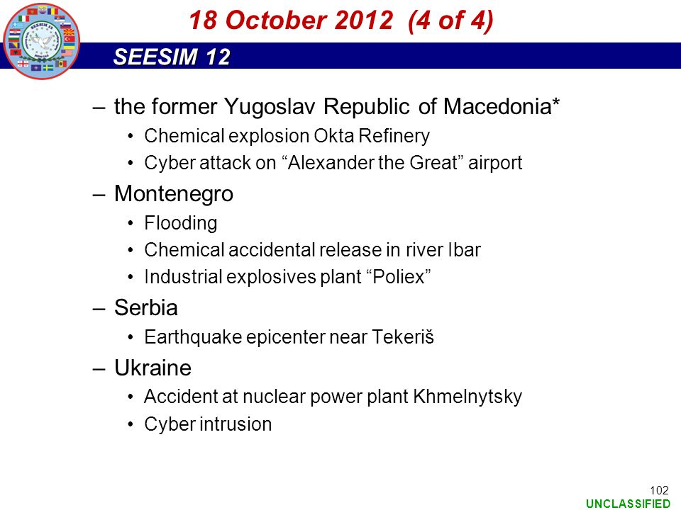18 October 2012 (4 of 4) the former Yugoslav Republic of Macedonia*