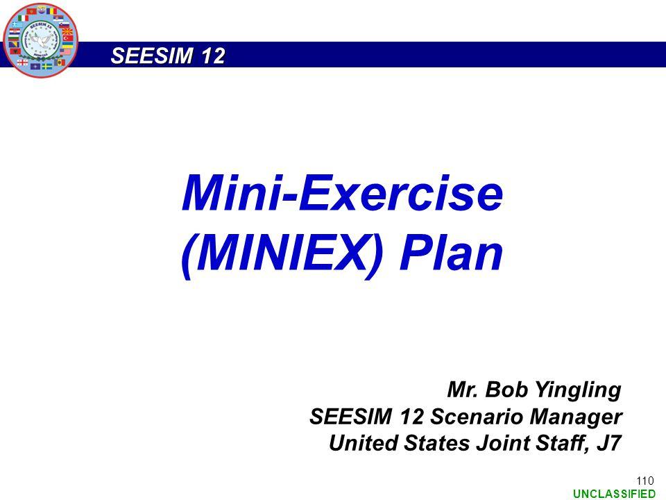 Mini-Exercise (MINIEX) Plan