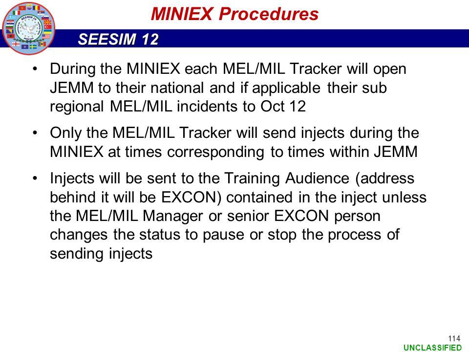 MINIEX Procedures