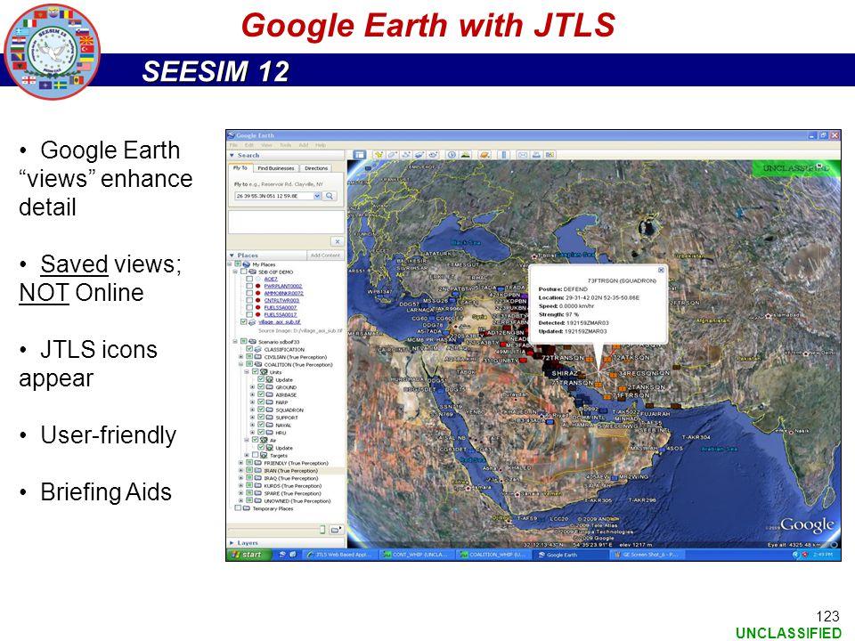 Google Earth with JTLS Google Earth views enhance detail