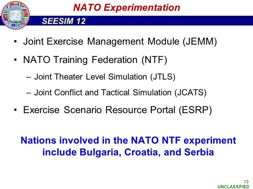 Joint Exercise Management Module (JEMM) NATO Training Federation (NTF)