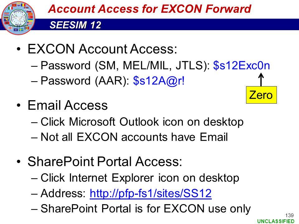Account Access for EXCON Forward