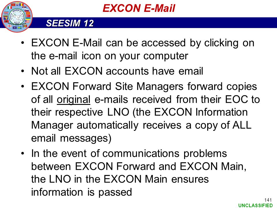 EXCON E-Mail EXCON E-Mail can be accessed by clicking on the e-mail icon on your computer. Not all EXCON accounts have email.