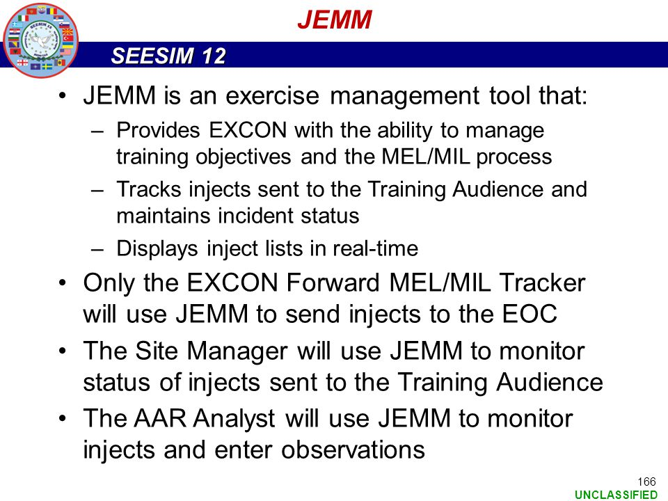 JEMM is an exercise management tool that: