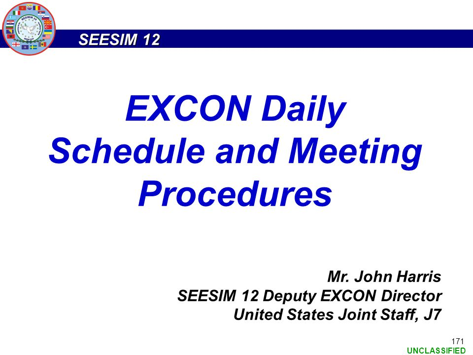 EXCON Daily Schedule and Meeting Procedures