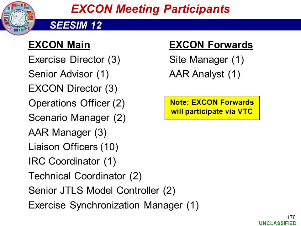 EXCON Meeting Participants