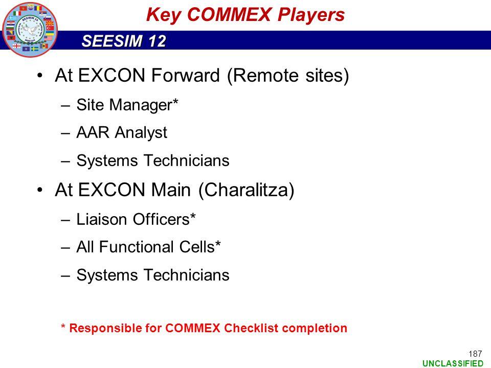At EXCON Forward (Remote sites)