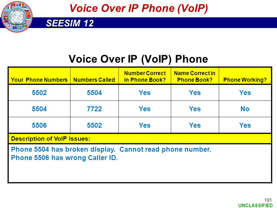 Voice Over IP Phone (VoIP)