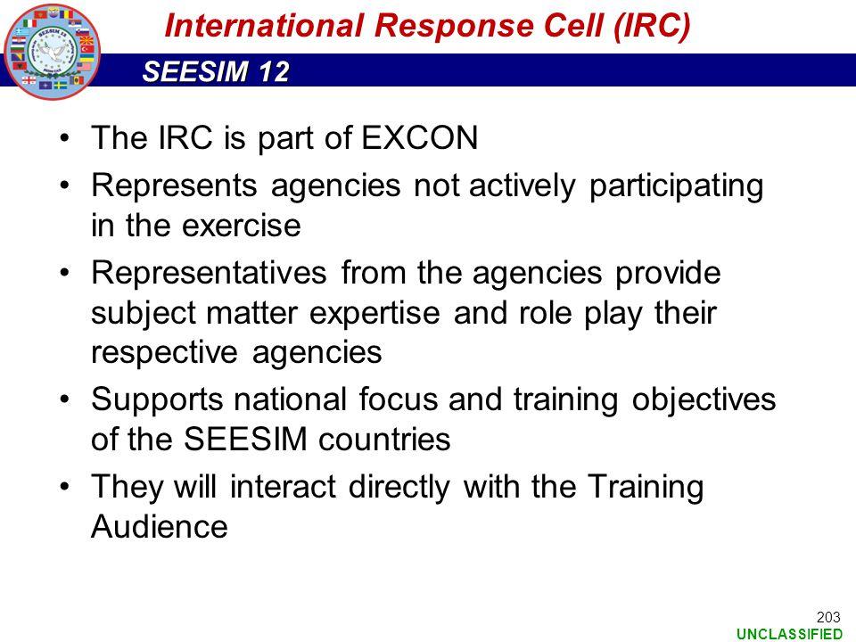 International Response Cell (IRC)