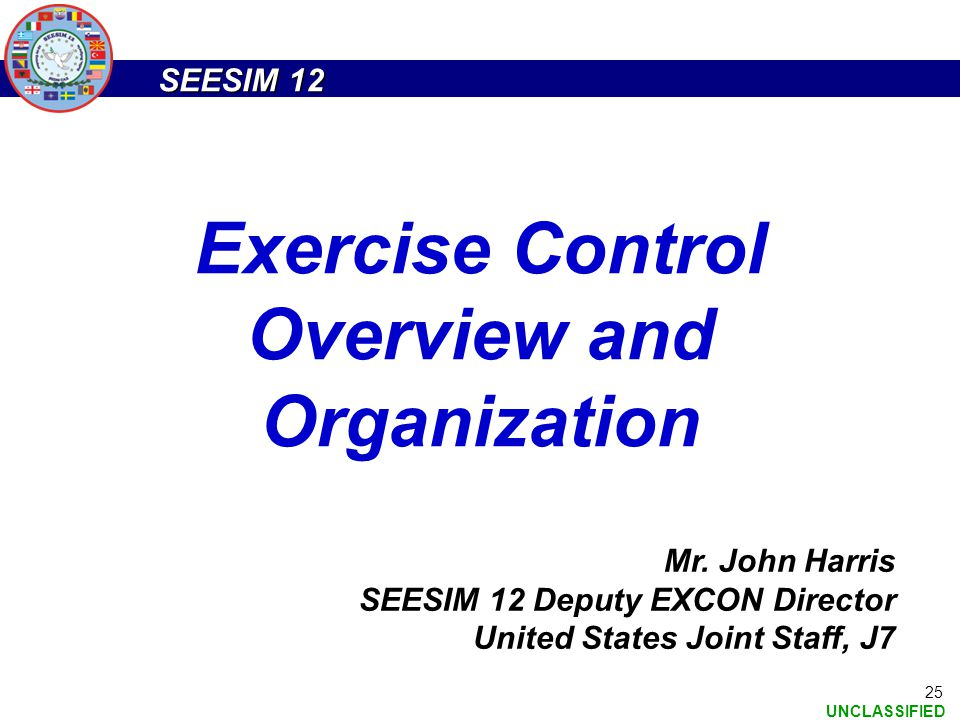 Exercise Control Overview and Organization