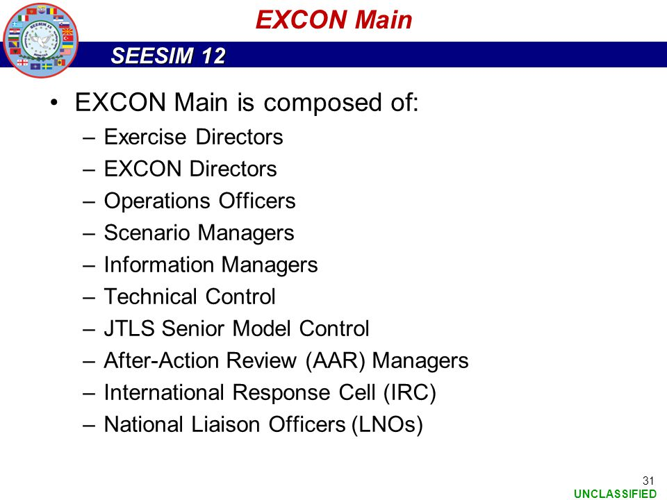 EXCON Main is composed of: