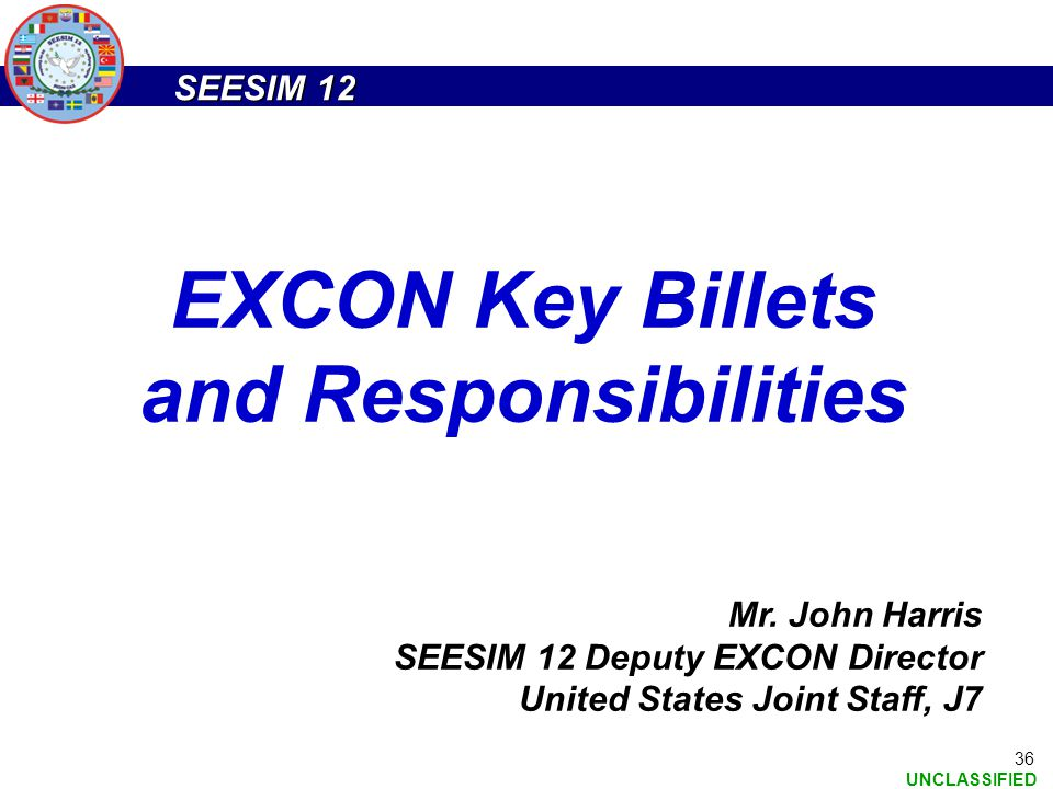 EXCON Key Billets and Responsibilities