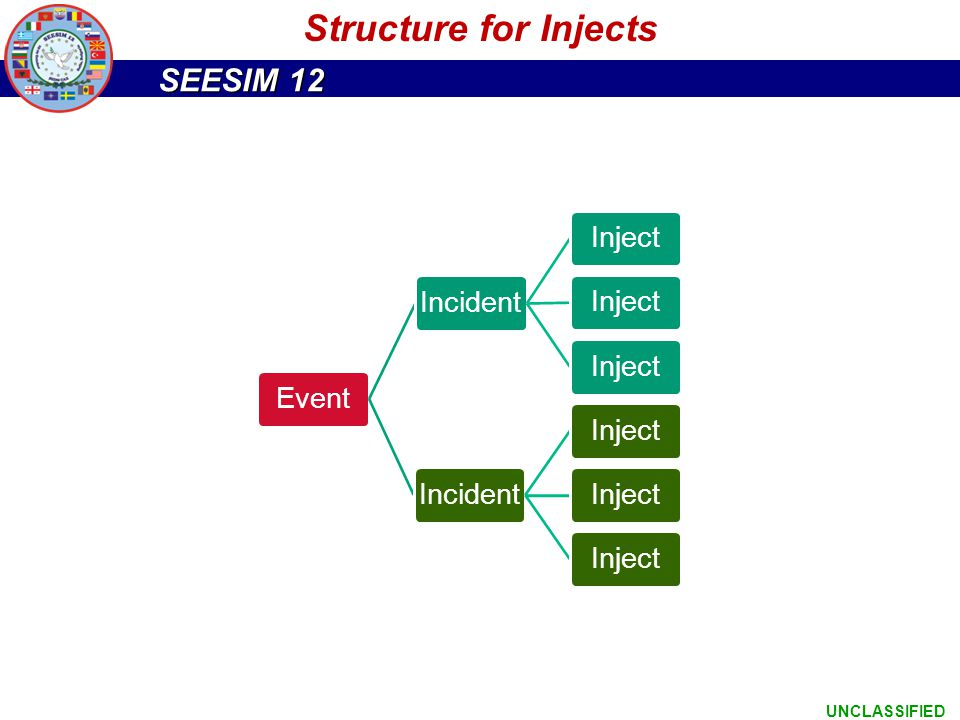 Structure for Injects Event Incident Inject