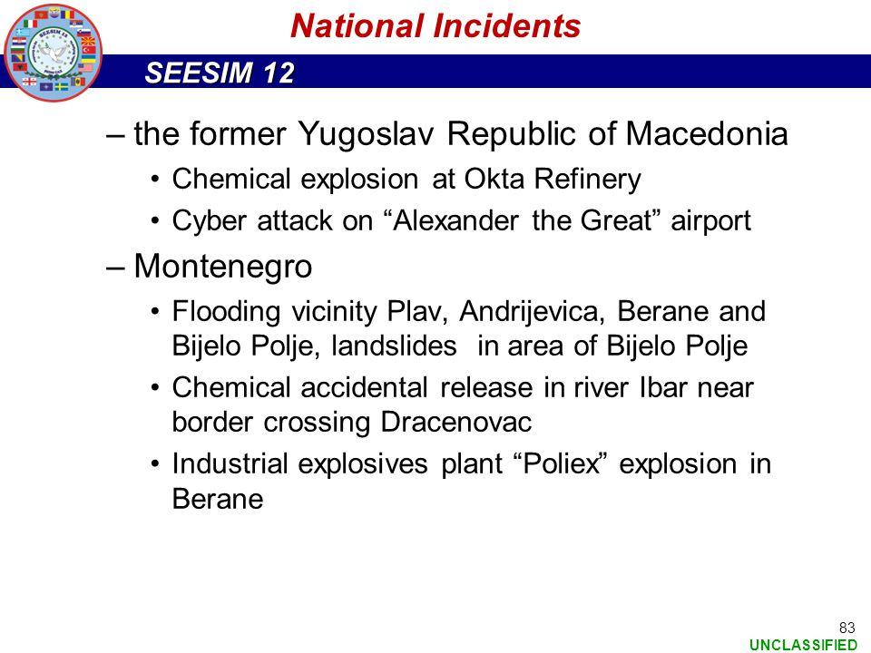 the former Yugoslav Republic of Macedonia