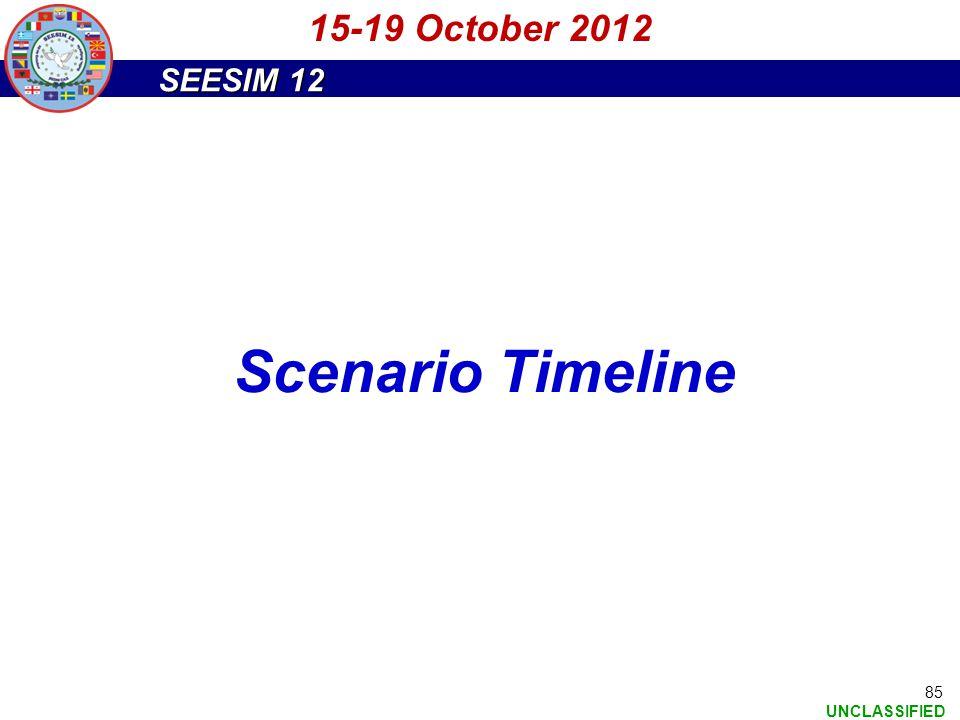 15-19 October 2012 Scenario Timeline