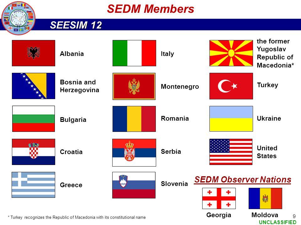 SEDM Members SEDM Observer Nations the former Yugoslav Republic of