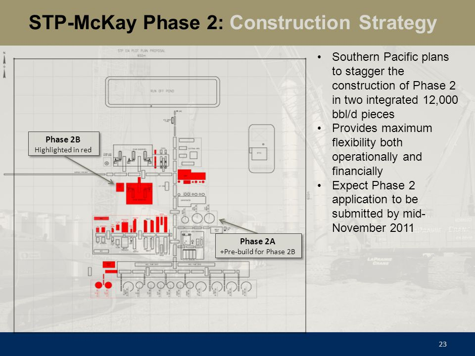 STP-McKay Phase 2: Construction Strategy