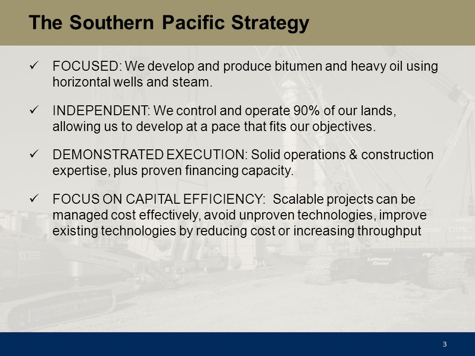 The Southern Pacific Strategy