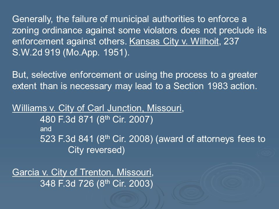 Williams v. City of Carl Junction, Missouri,