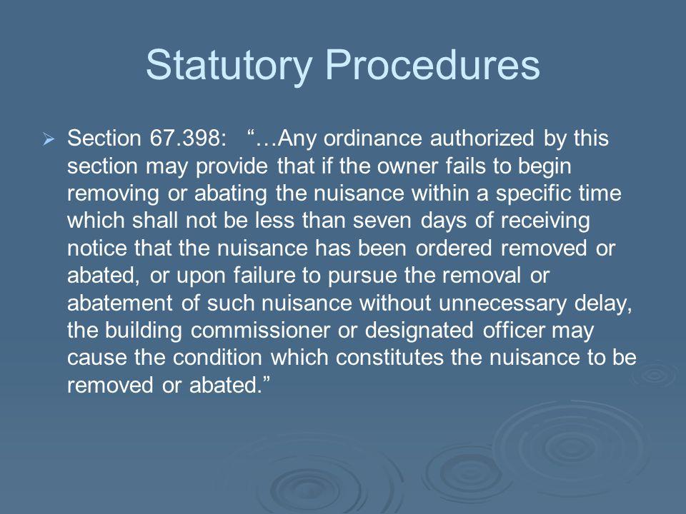 Statutory Procedures