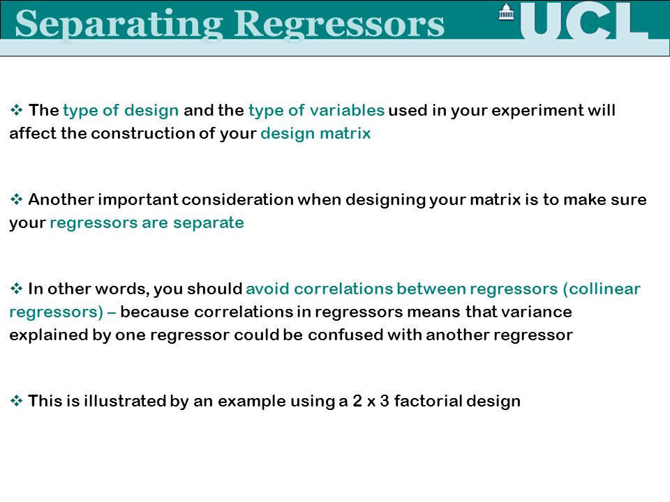 Separating Regressors