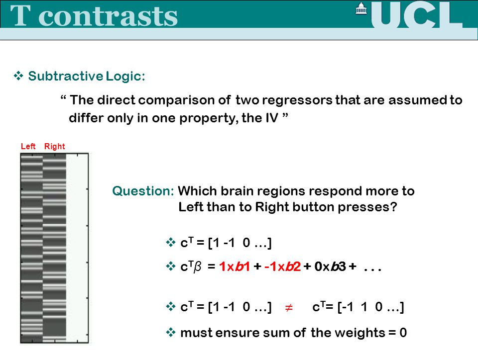 T contrasts Subtractive Logic: