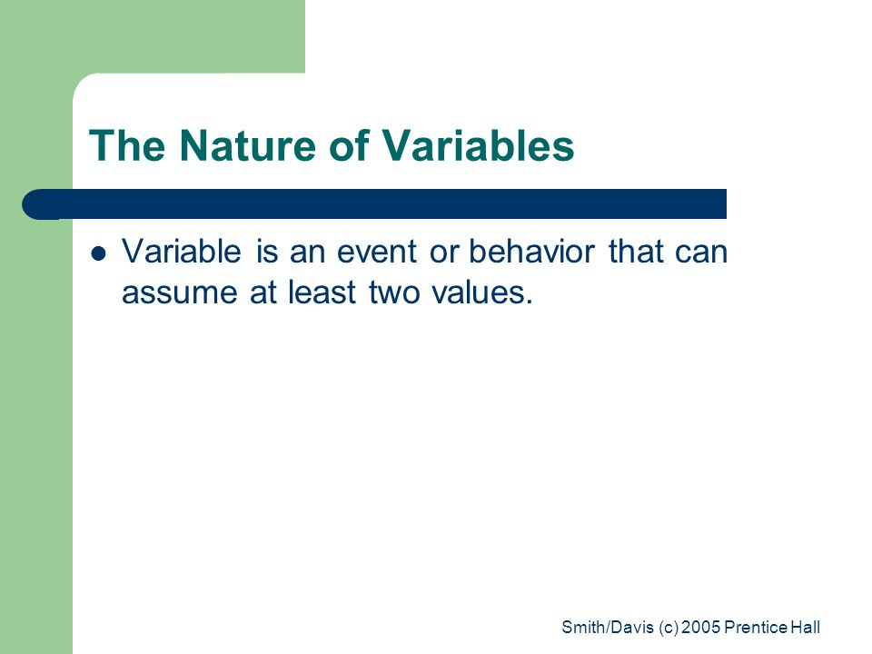 The Nature of Variables