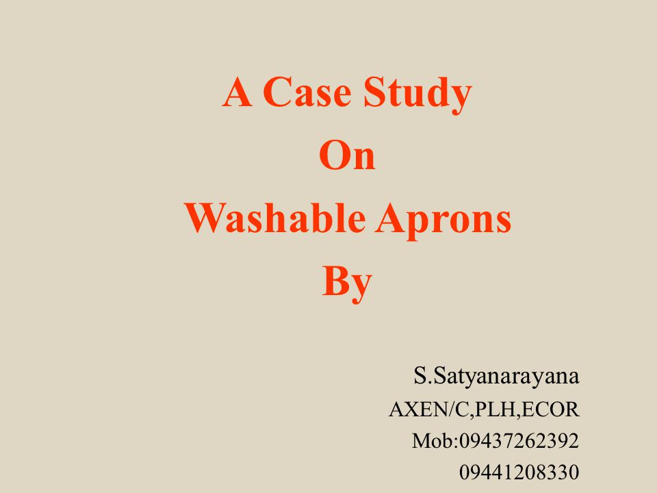 A Case Study On Washable Aprons By