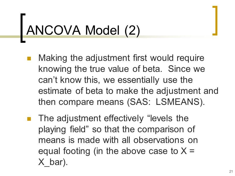 ANCOVA Model (2)