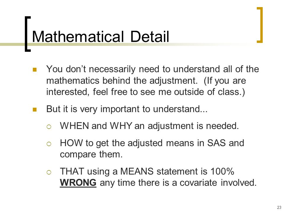 Mathematical Detail