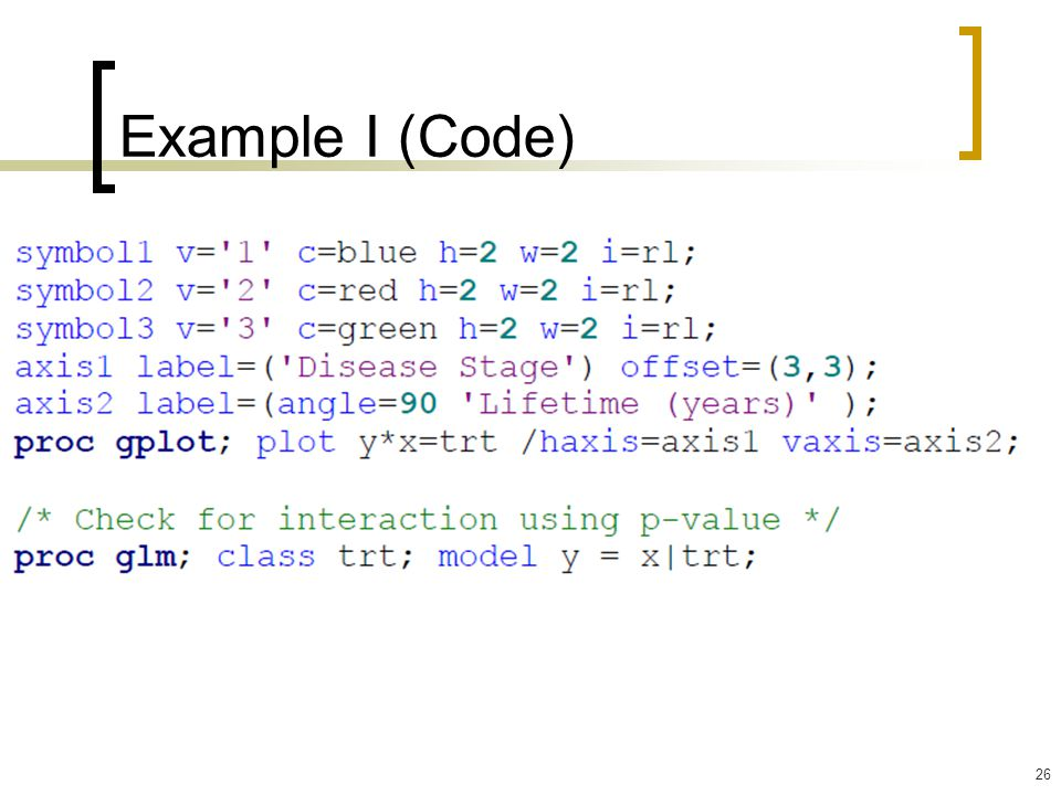 Example I (Code)