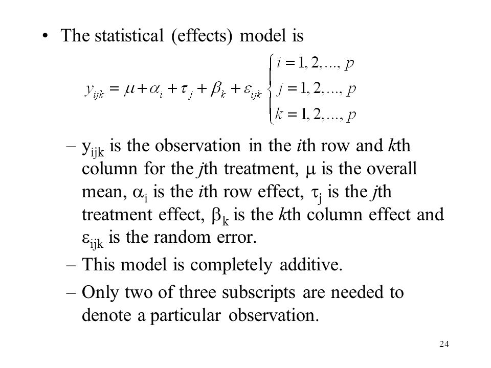 The statistical (effects) model is
