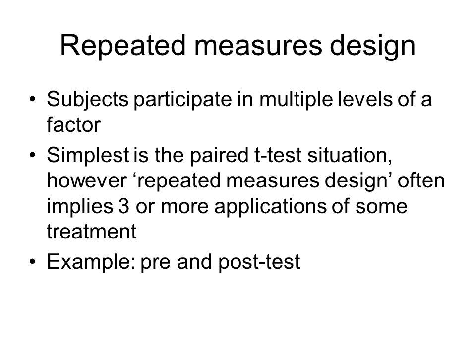 Repeated measures design