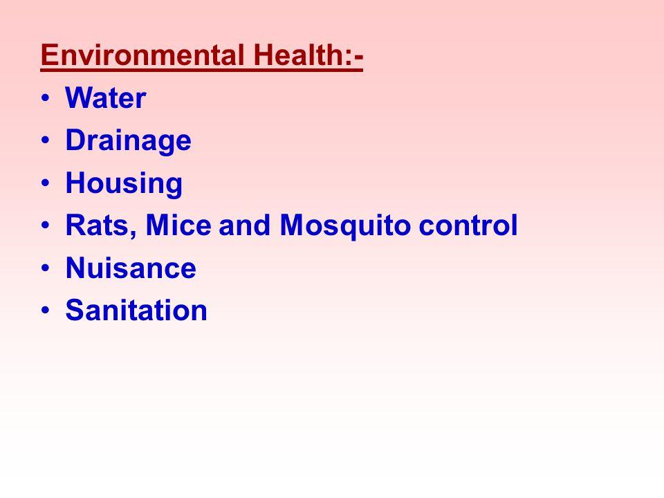 Environmental Health:-
