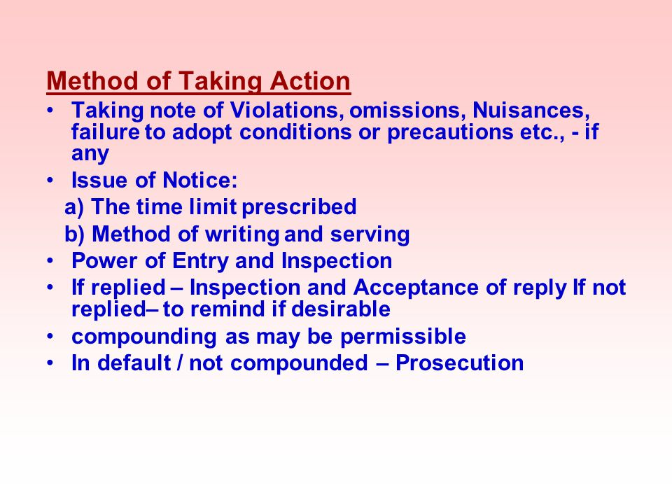 Method of Taking Action