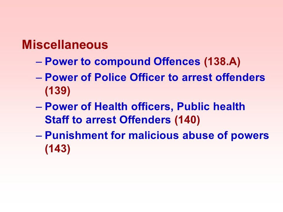 Miscellaneous Power to compound Offences (138.A)