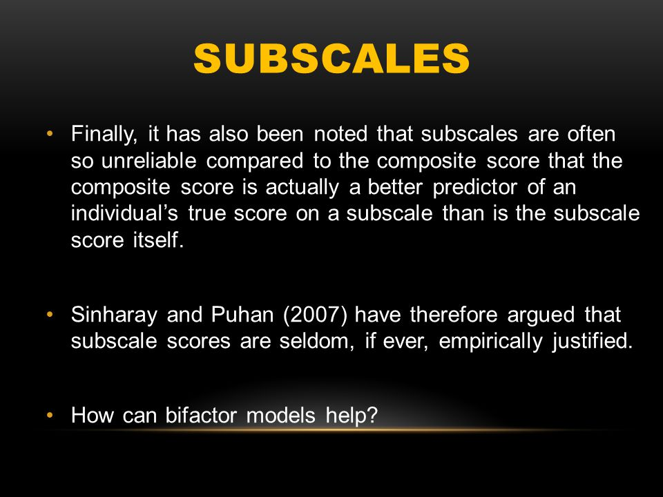 Subscales