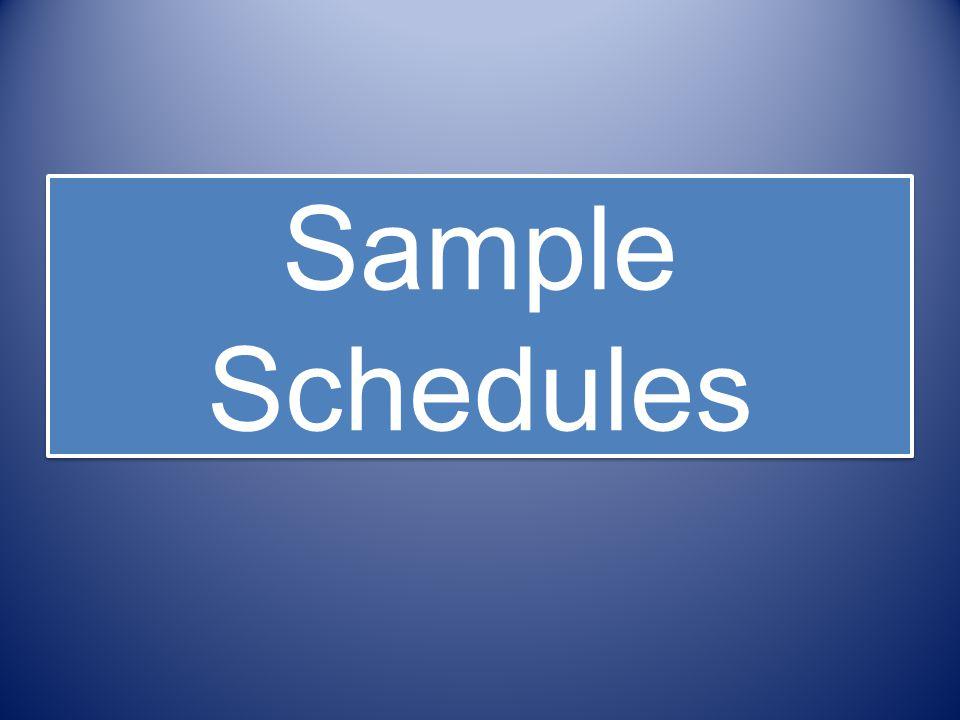 Sample Schedules