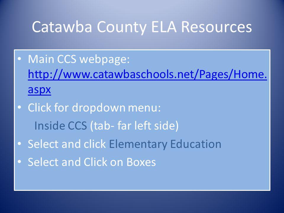 Catawba County ELA Resources
