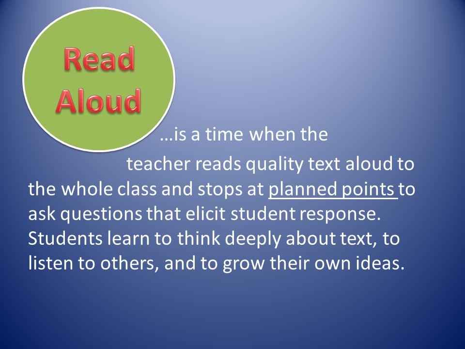 Read Aloud.