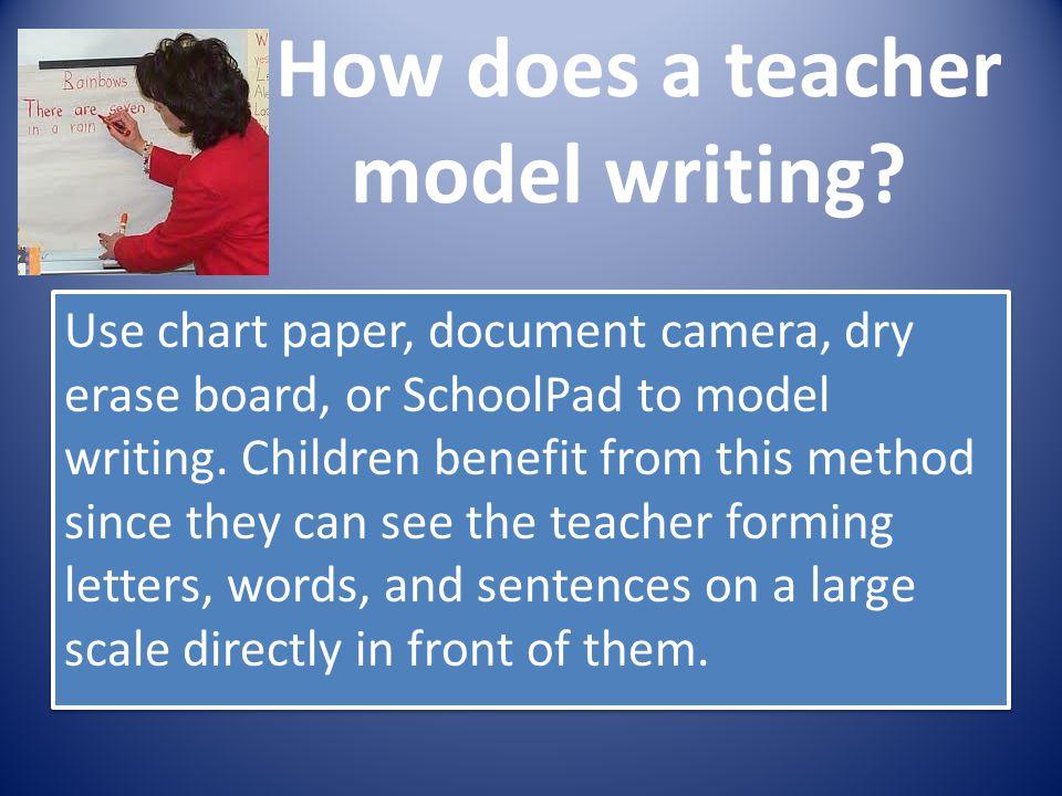 How does a teacher model writing